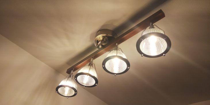 4灯シーリングライト JUKE 斜め撮影 クリアLED