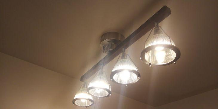 4灯シーリングライト JUKE 斜め撮影 白色LED